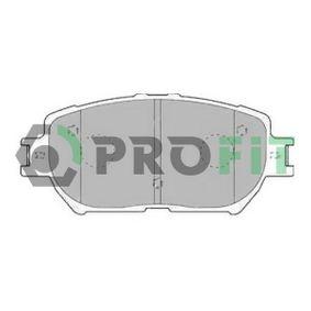 Bremsbelagsatz, Scheibenbremse Höhe: 58,7mm, Dicke/Stärke: 17mm mit OEM-Nummer 04465-33250