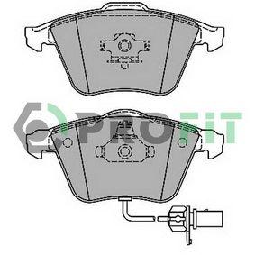 PROFIT  5000-1629 Bremsbelagsatz, Scheibenbremse Höhe: 72,8mm, Dicke/Stärke: 20,2mm