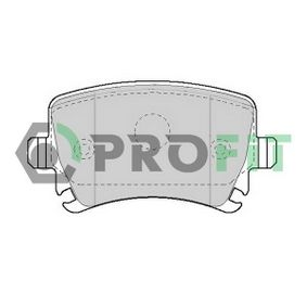 Комплект спирачно феродо, дискови спирачки 5000-1636 Golf 5 (1K1) 1.9 TDI Г.П. 2006