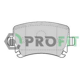 Bremsbelagsatz, Scheibenbremse Höhe: 55,5mm, Dicke/Stärke: 16,9mm mit OEM-Nummer 3C0 698 451A