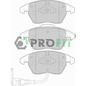 Kit de plaquettes de frein, frein à disque Hauteur 1: 71,4mm, Hauteur 2: 66mm, Épaisseur: 20,3mm avec OEM numéro 8J0 698 151 C
