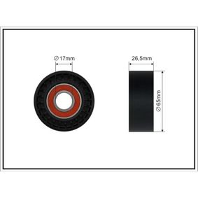 Spannrolle, Keilrippenriemen Breite: 26,5mm mit OEM-Nummer 31316674