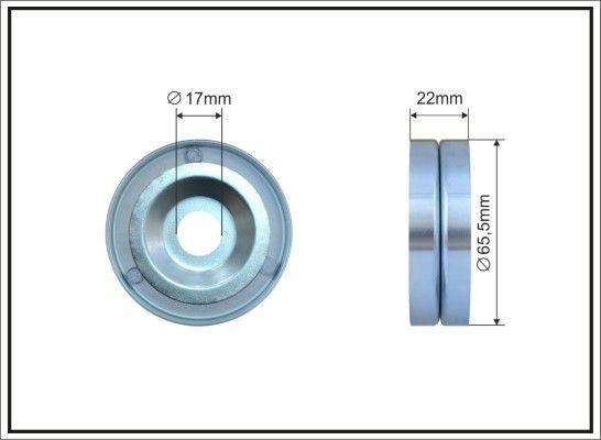 CAFFARO  500024 Tensioner Pulley, v-ribbed belt Width: 22mm