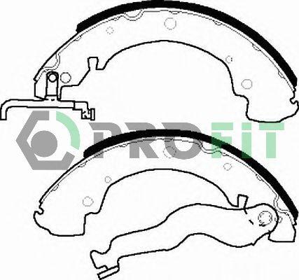 PROFIT  5001-0428 Bremsbackensatz Trommel-Ø: 270mm, Breite: 55mm, Dicke/Stärke: 5,5mm