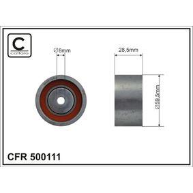 Spannrolle, Zahnriemen Ø: 59,5mm mit OEM-Nummer 078109244F