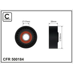 Spannrolle, Keilrippenriemen Breite: 26mm mit OEM-Nummer 11 75 011 13 R