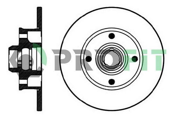 PROFIT  5010-0137 Bremsscheibe Bremsscheibendicke: 10mm, Lochanzahl: 4, Ø: 226mm, Ø: 226mm