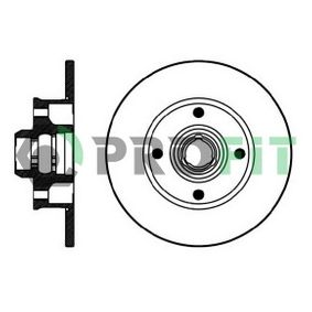 Bremsscheibe Bremsscheibendicke: 10mm, Lochanzahl: 4, Ø: 226mm mit OEM-Nummer 191615601B