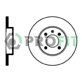 Bremsscheibe Bremsscheibendicke: 13mm, Lochanzahl: 4, Ø: 256mm, Ø: 256mm mit OEM-Nummer 6N0 615 301 D