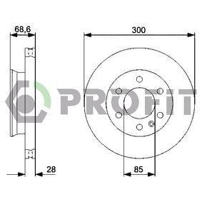 Bremsscheibe Bremsscheibendicke: 28mm, Lochanzahl: 6, Ø: 300mm, Ø: 300mm mit OEM-Nummer 9064210212