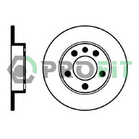 Bremsscheibe Bremsscheibendicke: 9mm, Lochanzahl: 5, Ø: 232mm mit OEM-Nummer 1J0615601N