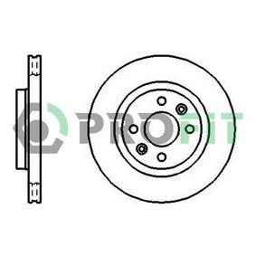 Bremsscheibe Bremsscheibendicke: 20,6mm, Lochanzahl: 4, Ø: 259mm mit OEM-Nummer 8200171765