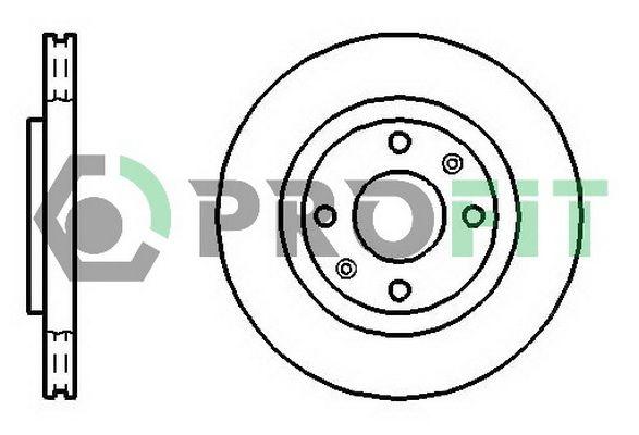 PROFIT  5010-1140 Bremsscheibe Bremsscheibendicke: 22mm, Lochanzahl: 4, Ø: 266mm