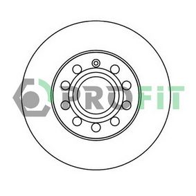 Bremsscheibe Bremsscheibendicke: 12mm, Lochanzahl: 5, Ø: 260mm mit OEM-Nummer 1K0615601AC