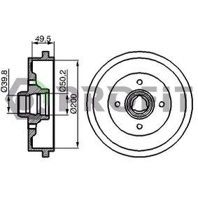Bremstrommel mit OEM-Nummer 1H0 501 615A