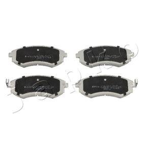 Bremsbelagsatz, Scheibenbremse Höhe: 54mm, Dicke/Stärke: 17mm mit OEM-Nummer 5810138A00