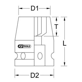 KS TOOLS Kraft-Stecknuss 515.0980