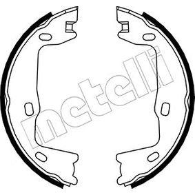 Bremsbackensatz, Feststellbremse Ø: 160,0mm, Breite: 25mm, Ø: 160,0mm mit OEM-Nummer 90509606