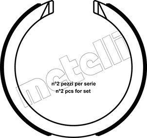 METELLI  53-0491 Bremsbackensatz, Feststellbremse Breite: 25mm