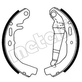Bremsbackensatz Breite: 46mm mit OEM-Nummer 90 063 339