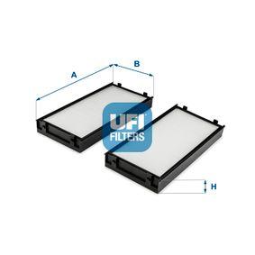 Filter, Innenraumluft Länge: 293mm, Breite: 138mm, Höhe: 34mm mit OEM-Nummer 64316945585
