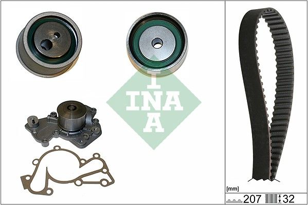 INA  530 0430 30 Bomba de agua + kit correa distribución