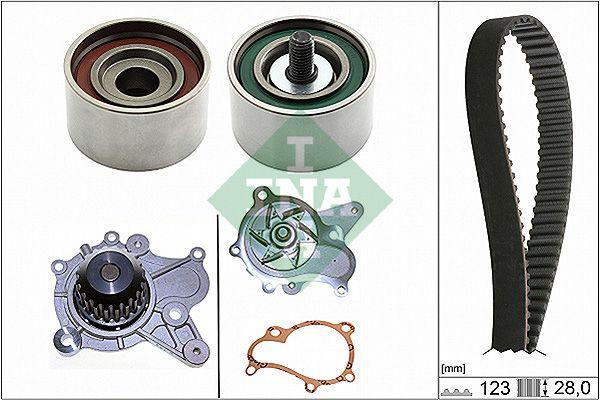 INA  530 0502 30 Water pump and timing belt kit