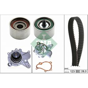 Water pump and timing belt kit with OEM Number 24312-27000