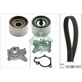 Water pump and timing belt kit with OEM Number 24312-27-000