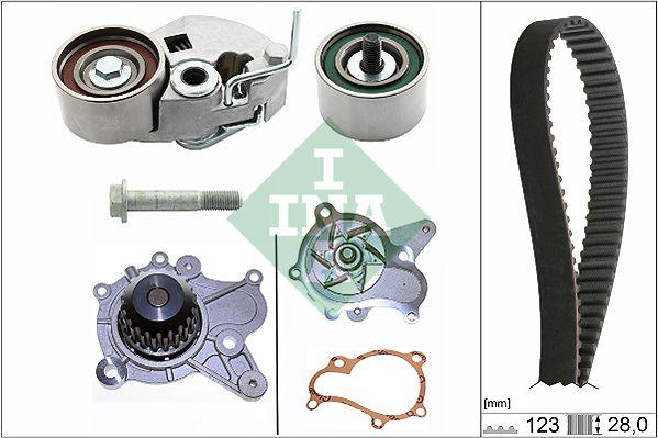 INA  530 0542 31 Water pump and timing belt kit