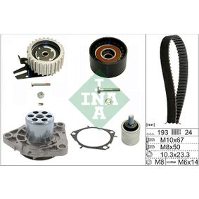 Water Pump & Timing Belt Set Width: 24,00mm with OEM Number 6 36 317