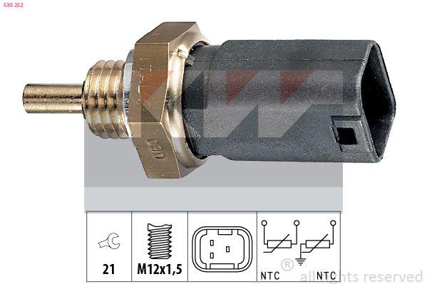 KW  530 252 Sensore, Temperatura refrigerante Apert. chiave: 21