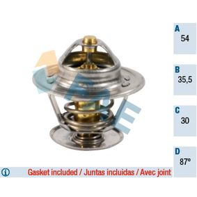 Thermostat, coolant with OEM Number 056.121.113.D