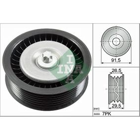 Deflection / Guide Pulley, v-ribbed belt 532 0808 10 E-Class Saloon (W212) E 350 CDI 3.0 MY 2013