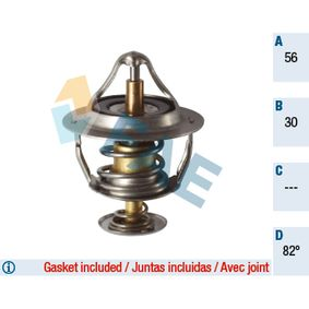 Thermostat, coolant Ø: 56mm with OEM Number 9091603125