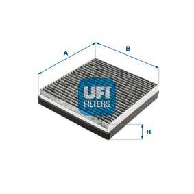 Filter, Innenraumluft Länge: 227,0mm, Breite: 205,0mm, Höhe: 40,0mm mit OEM-Nummer 668 09 9 03