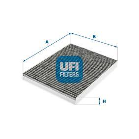 Filter, Innenraumluft Länge: 283,0mm, Breite: 206,0mm, Höhe: 25,0mm mit OEM-Nummer 1H0 091 800