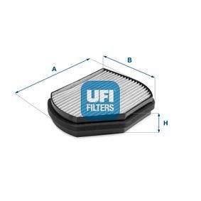 Filter, Innenraumluft Länge: 217,0mm, Breite: 273,0mm, Höhe: 54,0mm mit OEM-Nummer 2108300818