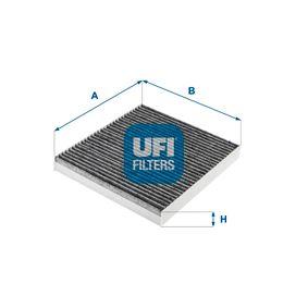 Filter, Innenraumluft Länge: 217mm, Breite: 194mm, Höhe: 25mm mit OEM-Nummer K05058381AA