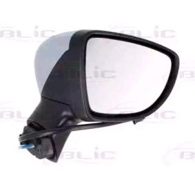 BLIC Seitenspiegel rechts, elektrisch, beheizt, Komplettspiegel, konvex, mit Temperatursensor, grundiert