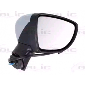 BLIC Side view mirror Right, Electric, Complete Mirror, Convex, Heated, with thermo sensor, Primed