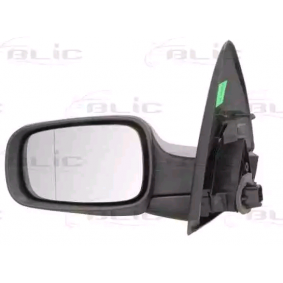 BLIC Side view mirror Left, Electric, Aspherical, Electronically foldable, Heated, Primed