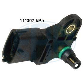 Sensor, pressão colector de admissão Número de ligações: 4 com códigos OEM 91.58.595