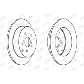 JURID Brake disc kit Solid, Coated, without screws