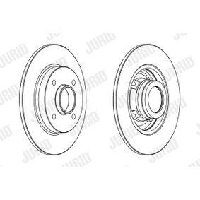 Disco de travão Espessura do disco de travão: 9mm, N.º de furos: 4, Ø: 249mm com códigos OEM 4249 34
