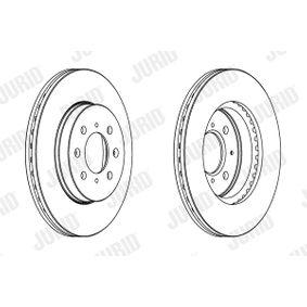 Bremsscheibe Bremsscheibendicke: 21mm, Lochanzahl: 4, Ø: 262mm mit OEM-Nummer 45251-TAR-G00
