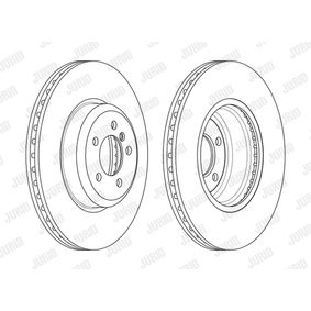 Brake Disc Brake Disc Thickness: 30mm, Num. of holes: 5, Ø: 370mm with OEM Number 3410 6 797 606