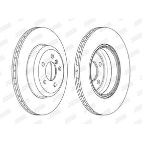 Brake Disc Brake Disc Thickness: 24mm, Num. of holes: 5, Ø: 345mm with OEM Number 34206894382