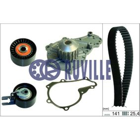 Water pump and timing belt kit with OEM Number AV6Q 8B596 AB