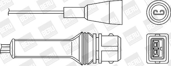 BERU  OZH046 Lambdasonde Kabellänge: 1130mm